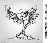 birth of an angel | Shutterstock .eps vector #290481860
