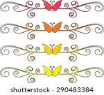 calligraphic decorative... | Shutterstock .eps vector #290483384