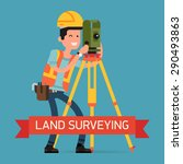 cool land surveying concept... | Shutterstock .eps vector #290493863