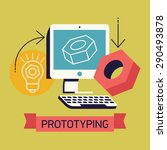 trendy prototyping process in... | Shutterstock .eps vector #290493878