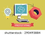 cool prototyping process in... | Shutterstock .eps vector #290493884