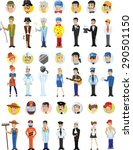 cartoon vector characters of... | Shutterstock .eps vector #290501150