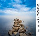 Minimalist Seascape. Coastal...