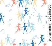 seamless pattern with running... | Shutterstock .eps vector #290506520