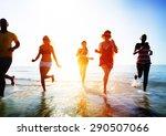 friendship freedom beach summer ... | Shutterstock . vector #290507066