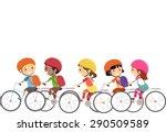 doodle illustration of little... | Shutterstock .eps vector #290509589