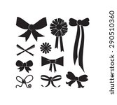 set of different shapes of bows  | Shutterstock .eps vector #290510360