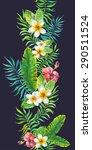 tropical flower. seamless... | Shutterstock .eps vector #290511524