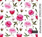vector seamless summer floral... | Shutterstock .eps vector #290511950