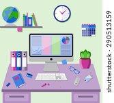 flat design vector illustration ... | Shutterstock .eps vector #290513159