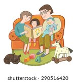 father  mother  son and... | Shutterstock .eps vector #290516420