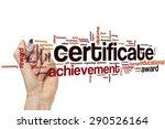 certificate word cloud concept | Shutterstock . vector #290526164