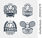 vector set of tennis badge logo ... | Shutterstock .eps vector #290529179
