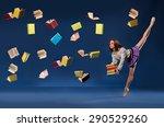 ballerina in form of ... | Shutterstock . vector #290529260