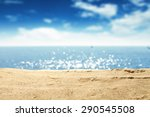 Yellow Warm Sand And Summer Se...