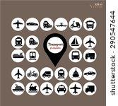 transport icons.transportation .... | Shutterstock .eps vector #290547644