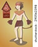 zodiac man   leo | Shutterstock .eps vector #290562398