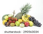 Fresh Various Fruits On...