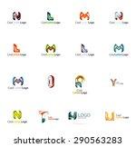abstract company logo mega...   Shutterstock . vector #290563283