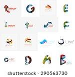 abstract company logo mega... | Shutterstock . vector #290563730