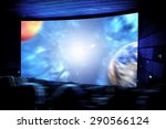 cinema. the audience in 3d... | Shutterstock . vector #290566124