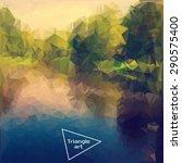 triangle vector polygon art... | Shutterstock .eps vector #290575400