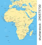 africa map   highly detailed... | Shutterstock .eps vector #290575730