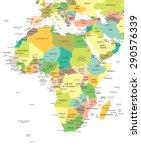 africa   map   illustration | Shutterstock .eps vector #290576339