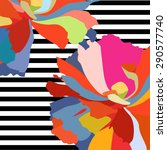 abstract vector watercolor draw ... | Shutterstock .eps vector #290577740