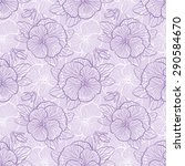 seamless floral pattern with... | Shutterstock .eps vector #290584670