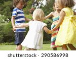 Group Of Children Playing...
