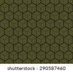 seamless olive green hexagons...   Shutterstock .eps vector #290587460