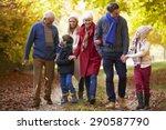 multl generation family walking ...   Shutterstock . vector #290587790