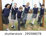portrait of elementary school... | Shutterstock . vector #290588078