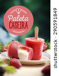 stick ice cream strawberry... | Shutterstock . vector #290591849