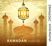 ramadan kareem  greeting... | Shutterstock .eps vector #290596463