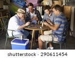 group of male friends playing... | Shutterstock . vector #290611454