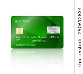 realistic detailed credit card... | Shutterstock .eps vector #290612834