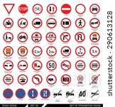 set of road signs. collection... | Shutterstock .eps vector #290613128