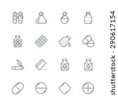 medicine icons | Shutterstock .eps vector #290617154