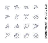 sport icons | Shutterstock .eps vector #290617160