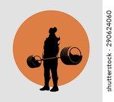 powerlifting deadlift barbell | Shutterstock .eps vector #290624060
