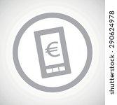 grey image of euro symbol on...