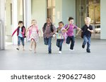 group of elementary age... | Shutterstock . vector #290627480