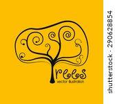 tree design over yellow... | Shutterstock .eps vector #290628854