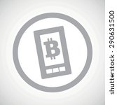 grey image of bit coin symbol...