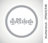 grey image of casino logo in...
