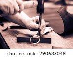 process of making belt ... | Shutterstock . vector #290633048