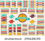 set of colored ribbons and... | Shutterstock .eps vector #290638190