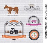 farm label template of emblem...   Shutterstock .eps vector #290643830